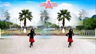 红蝶广场舞《等着我来爱》原创双人舞对跳恰恰