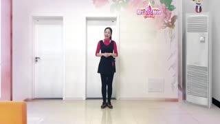 林州芳心广场舞《又见雪花飞》原创32步健身舞附教学