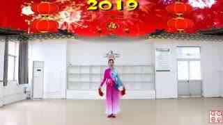 刘荣广场舞《盛世中国年》原创附教学和背面演示