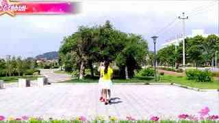 红蝶广场舞〈黄土高坡〉原创24步单人跳及双人对跳演示附分解