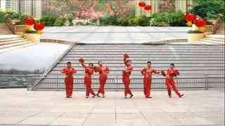 银河湾广场舞《吉祥中国年》原创变换队形附教学