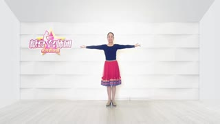 圆月如歌广场舞《手心里的温柔》原创零基础三步舞附教学