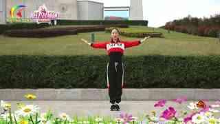 杨丽萍广场舞《在那桃花盛开的地方》五福天团组合原创第二支