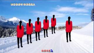 映容雪广场舞《跟着感觉走》原创流行摇跨32步附教学