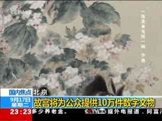 北京:故宫将为公众提供10万件数字文物