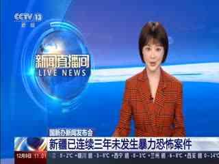 国新办新闻发布会:新疆已连续三年未发生暴力恐怖案件