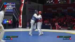 F+67kg 金牌赛 比安卡·沃克登【英国】vs 李多滨【韩国】