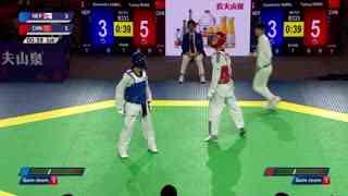 男子 -63kg王余龙【中国】vs 盖恩扎·哈马尔【尼泊尔】