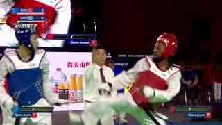 男子 -80kg 阿诺德·诺基约【刚果】vs 刘桂成【中国】