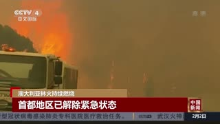 澳大利亚林火持续燃烧 首都地区已解除紧急状态