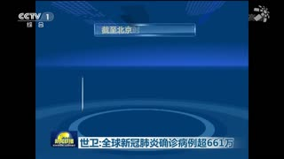 世卫:全球新冠肺炎确诊病例超661万
