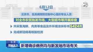 北京:新增确诊病例均与新发地市场有关