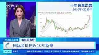 国际金价创近10年新高