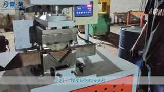 方管冲角机切角45度对折角机器液压切直角