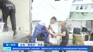 """台风""""黑格比""""来袭 浙江台州:做好防台准备 渔船返港避风"""