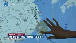 """连线省防指:台风""""黑格比""""最新走向"""