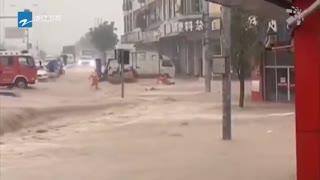 """""""黑格比""""带来狂风暴雨 各地紧急转移群众38.38万人"""