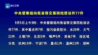 中央督察组向浙江省移交第四批信访件77件