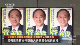 日本自民党总裁选举启动 调查称菅义伟胜算大
