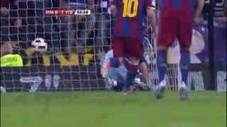 1011赛季国家德比:皇家马德里1-1巴塞罗那 梅西C罗各自点球得分!