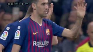"""1819赛季国家德比:皇家马德里0-1巴塞罗那 """"群主""""拉基蒂奇一球制胜!"""