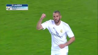 1516赛季国家德比:巴塞罗那1-2皇家马德里 皮克本泽马各自进球,C罗绝杀逆转!