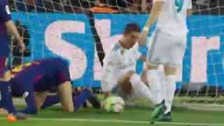 1718赛季国家德比:巴塞罗那2-2皇家马德里 梅罗最后一次同场竞技各入一球