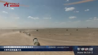 【军事快播】西北戈壁:多炮种联合火力压制 提升综合作战效能