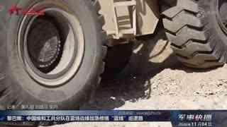 """【军事快播】黎巴嫩:中国维和工兵分队在雷场边缘加急修缮""""蓝线""""巡逻路"""