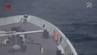 """【第一军视】""""战斗警报"""" !四艘军舰协同作战 海上""""威胁""""迅速解除"""