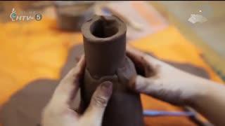 《泥塑动物瓶子》授课教师:江彩邦