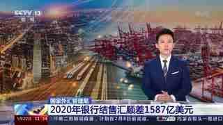 国家外汇管理局:2020年银行结售汇顺差1587亿美元