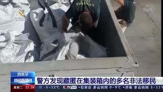 西班牙:警方发现藏匿在集装箱内的多名非法移民