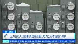 无力支付天价账单 美国得州最大电力公司申请破产保护