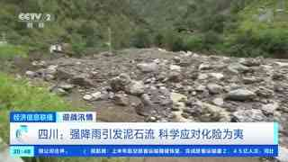 四川:强降雨引发泥石流 科学应对化险为夷