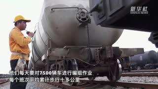 铁路调车员:高温下保障货运安全畅通