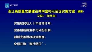浙江高质量发展建设共同富裕示范区实施方案(摘要)(2021-2025年)