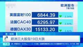 美国纽约股市三大股指19日大幅下跌