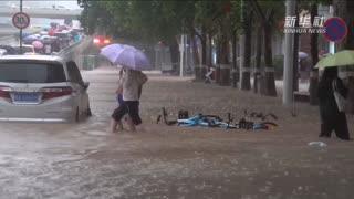 郑州遭遇历史极值暴雨市区及周边县区受灾严重
