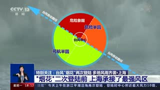 """""""烟花""""二次登陆前 上海承接了最强风区"""