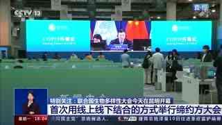 特别关注:《生物多样性公约》缔约方大会第十五次会议 第一阶段会议10月11日下午在云南昆明开幕
