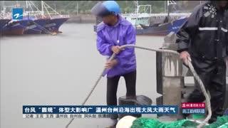 """台风""""圆规""""体型大影响广 温州台州沿海出现大风大雨天气"""