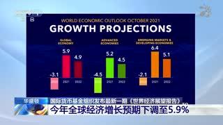 国际货币基金组织发布最新一期《世界经济展望报告》 2021年全球经济增长预期下调至百分之5.9