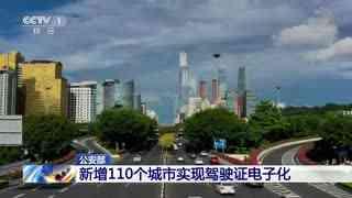 公安部 新增110个城市实现驾驶证电子化