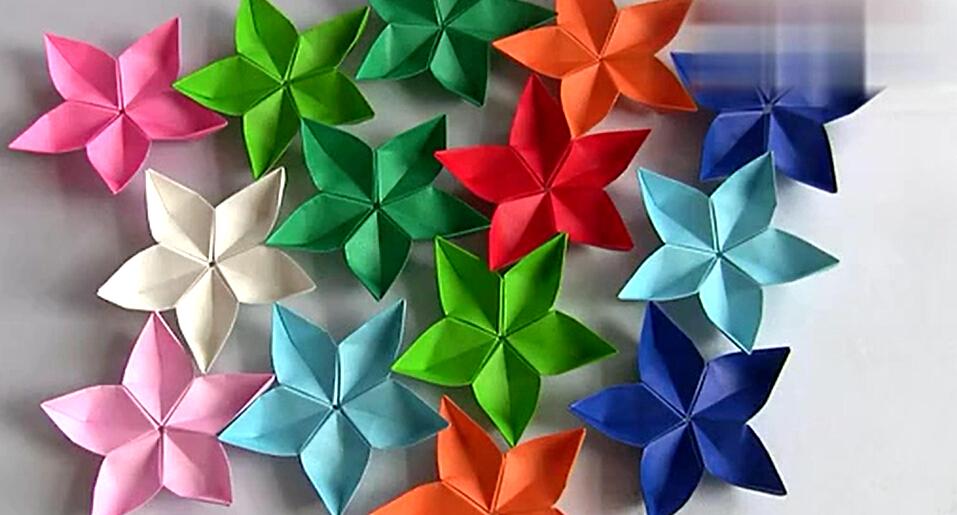植物折纸粘贴画