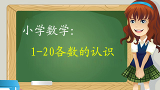 小学数学1-20各数的认识