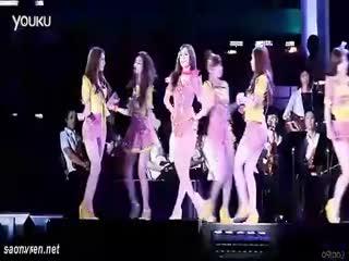 韩国少女时代长腿美女皮裤性感热舞mv高清