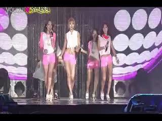 雨中性感湿身热舞 韩国甜心美女组合kara