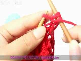 鱼骨针围巾的织法 毛线围巾编织视频花样教程