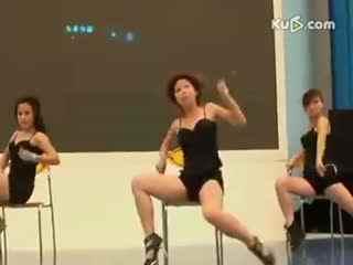 长腿美女高跟热舞椅子舞